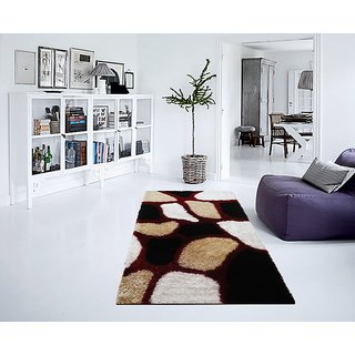 Multicolor Stones Premium Shaggy Carpet 3x5 Feet