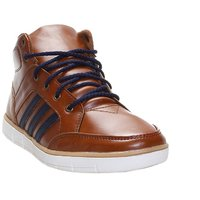 Zappy Men's Tan & Blue Lace-Up Casual Shoes