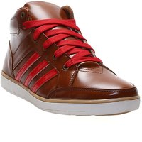 Zappy Men's Tan & Red Lace-Up Casual Shoes