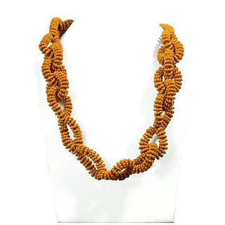 Gold Plated Multi Strand Necklace With Drop Earring For Women
