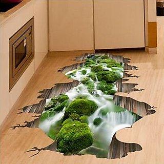 3D Stream Floor Decor Wall Sticker
