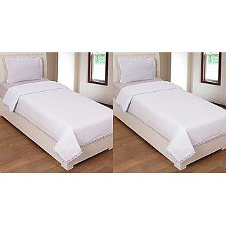 R-trendz Cotton Plain Top Sheet Set of 2
