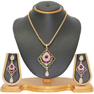 Soni Art Jewellery Classic Look Pendant Set Jewellery 0107E