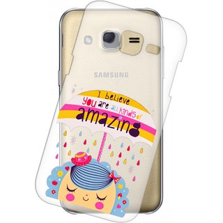 Snooky Printed transparent Silicone Back Case Cover For Samsung Galaxy Grand 2