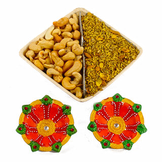 Salted Mouth Freshener Bowl with Earthen Diya