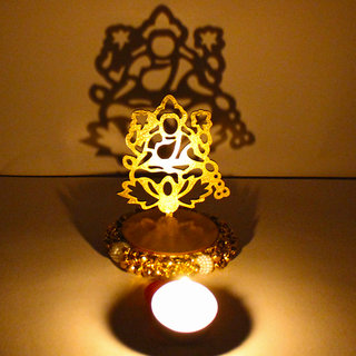 Exclusive Shadow Diya Tealight Candle Holder of Removable Goddess Lakshmi