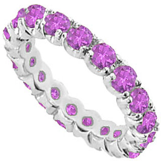 Superb Amethyst Eternity Band With 14K White Gold