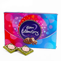 Cadbury Celebration with 2 Acrylic Square Shaped Diyas