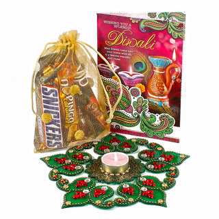 Buy Diwali Chocolate Hamper with Rangoli and Card Online @ ₹702 from ShopClues
