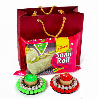 Soan Roll with Floating Diya Hamper