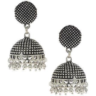 Anuradha Art Silver Finsih Classy Designer Jhumki Styled Earrings For Women/Girls