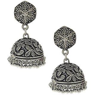 Anuradha Art Silver Colour Very Classy Designer Jhumki Styled Earrings For Women/Girls