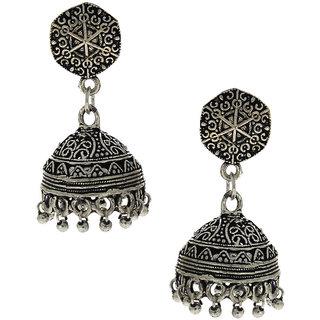 Anuradha Art Silver Finish Adorable Classy Designer Jhumki Earrings For Women/Girls