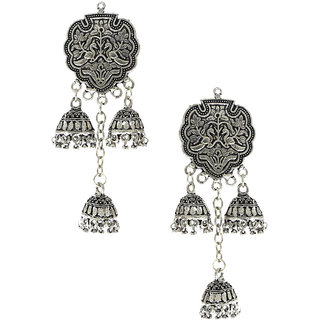 Anuradha Art Exclusively Design Styled With Silver Colour Jhumki Earrings For Women/Girls