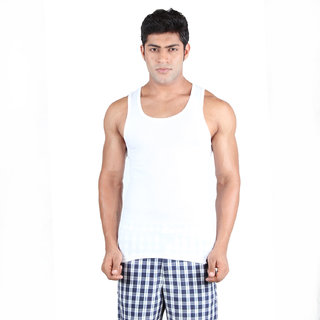 Undercolors White Sleeve less Vest for Men