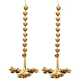 AM VAASITI Lotus Hanging LED T-lite Multi 2