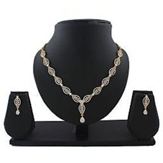 Anuradha Art Golden Finish Very Classy Designer Stylish Necklace Set For Women/Girls