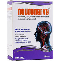 West Coast NEURONERVE With Iron, Zinc, Iodine  Pantothenic Acid  30 Tablets