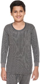 Vimal-Jonney Winter King Grey Blended Thermal Top For Boys