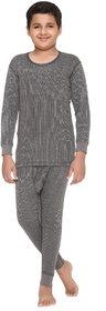 Vimal Winter King Grey Blended Thermal Top & Pyjama Set For Boys