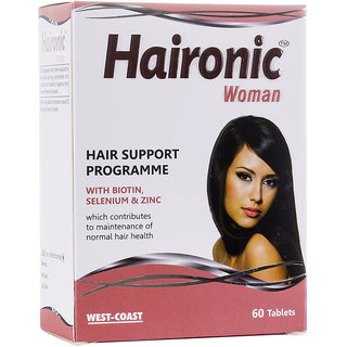 West Coast  Haironic Woman HAIR  WITH BIOTIN, SELENIUM  ZINC 60 Tablets