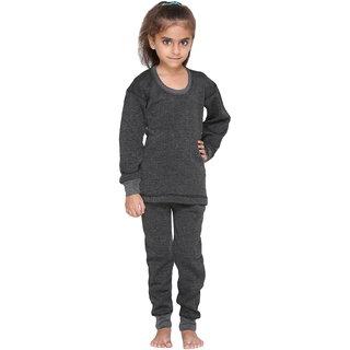 Vimal-Jonney Premium Cover Black Top & Pyjama Set For Girls