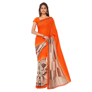 Kashvi Sarees Faux Georgette Multi Colored Printed Saree With Blouse Piece (11091)