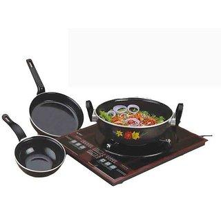 Non Stic Induction Cookware Set of 3 PCS Milton