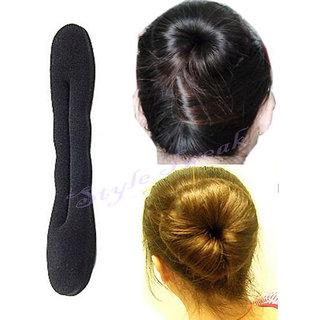 Buy Hair Donut Bun Maker French Twist Roll Sponge Tool