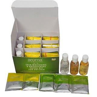 Aroma Treasures Skin Whitening  Brightening Facial Kit For Dry Skin