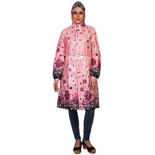 Zeel Reversible Floral & Dot Print Raincoat For Women