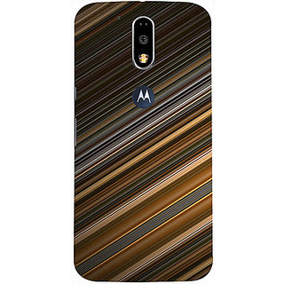 Casotec Stripes Design 3D Printed Hard Back Case Cover for Motorola Moto G4 Plus