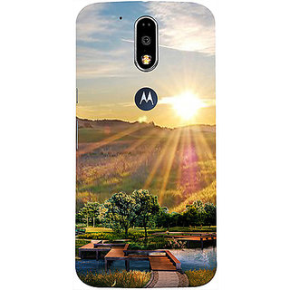 Casotec 3D Landscape Design 3D Printed Hard Back Case Cover for Motorola Moto G4 Plus
