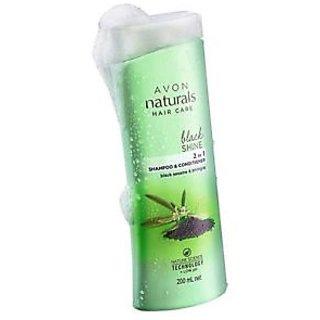 Avon Black shine 2 in 1 shampoo  conditioner
