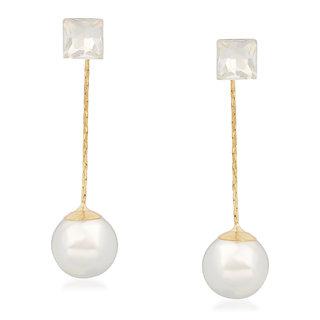 VK Jewels Pearl Drop Gold Plated Alloy Dangle Earring set for Women & Girls -ERZ1264G [VKERZ1264G]