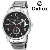 Oxhox BLACK CHRONOGRAPH Analog Watch - For Men