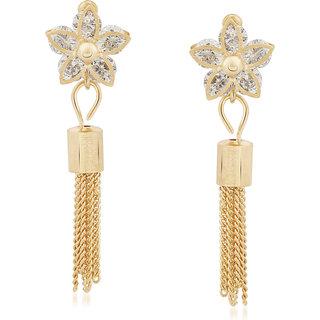 VK Jewels Saprkling Star Gold Plated Alloy Dangle Earring set for Women & Girls -ERZ1265G [VKERZ1265G]