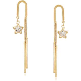 VK Jewels Stars Gold & Rhodium Plated Alloy Dangle Earring set for Women & Girls -ERZ1269G [VKERZ1269G]