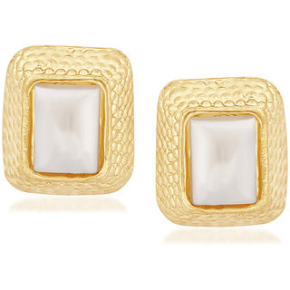 VK Jewels Square Pearl Gold & Rhodium Plated Alloy Dangle Earring set for Women & Girls -ERZ1272G [VKERZ1272G]