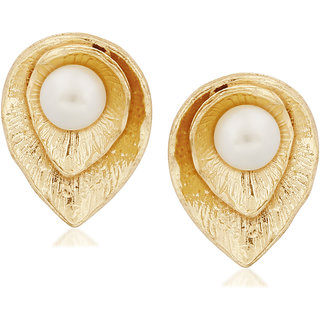 VK Jewels Pearl Gold & Rhodium Plated Alloy Dangle Earring set for Women & Girls -ERZ1274G [VKERZ1274G]