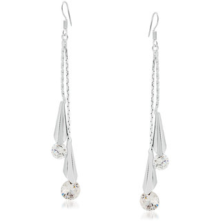 VK Jewels Tear Drop Gold & Rhodium Plated Alloy Dangle Earring set for Women & Girls -ERZ1280R [VKERZ1280R]