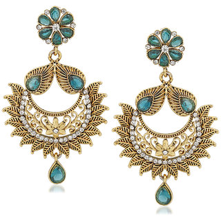 VK Jewels Leafy Gold Plated Alloy Drop Earring set for Women & Girls -ERZ1290G [VKERZ1290G]