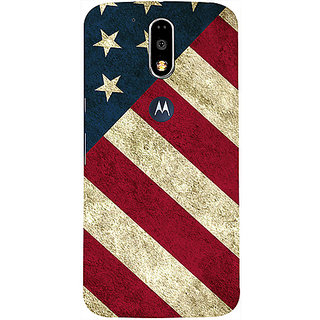 Casotec USA Flag Design 3D Printed Hard Back Case Cover for Motorola Moto G4 Plus