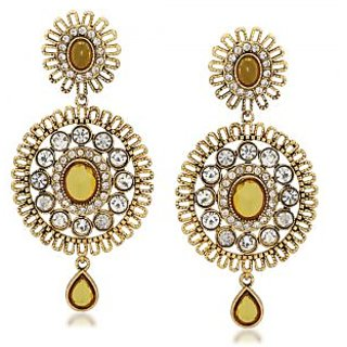 VK Jewels Comely Gold Plated Alloy Drop Earring set for Women & Girls -ERZ1299G [VKERZ1299G]