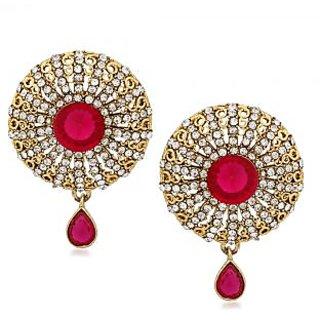 VK Jewels Decent Round Gold Plated Alloy Drop Earring set for Women & Girls -ERZ1304G [VKERZ1304G]