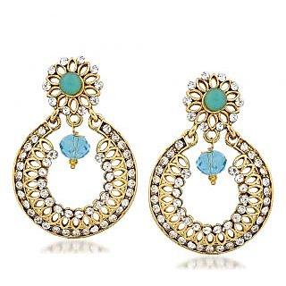 VK Jewels Ravishing Gold Plated Alloy Chandbali Earring set for Women & Girls -ERZ1308G [VKERZ1308G]