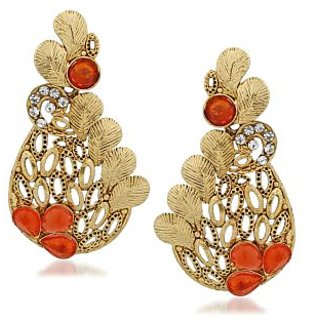 VK Jewels Stunning Gold Plated Alloy Drop Earring set for Women & Girls -ERZ1309G [VKERZ1309G]