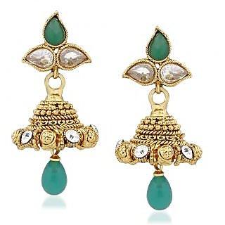 VK Jewels Lovely Gold Plated Alloy Jhumki Earring set for Women & Girls -ERZ1313G [VKERZ1313G]