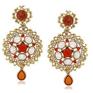 VK Jewels Fine Gold Plated Alloy Drop Earring set for Women & Girls -ERZ1321G [VKERZ1321G]