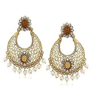 VK Jewels Classy Gold Plated Alloy Chandbali Earring set for Women & Girls -ERZ1322G [VKERZ1322G]